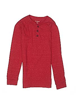 Cat & Jack Long Sleeve Henley Size 8 - 10