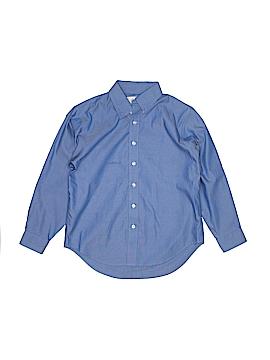 Lands' End Long Sleeve Button-Down Shirt Size 9 - 10