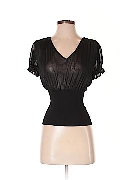 Donna Karan New York Short Sleeve Silk Top Size S