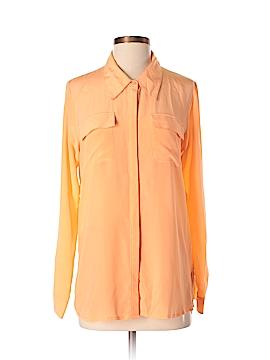 Gold Hawk Long Sleeve Silk Top Size XS