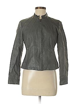 Alfani Faux Leather Jacket Size 6 (Petite)