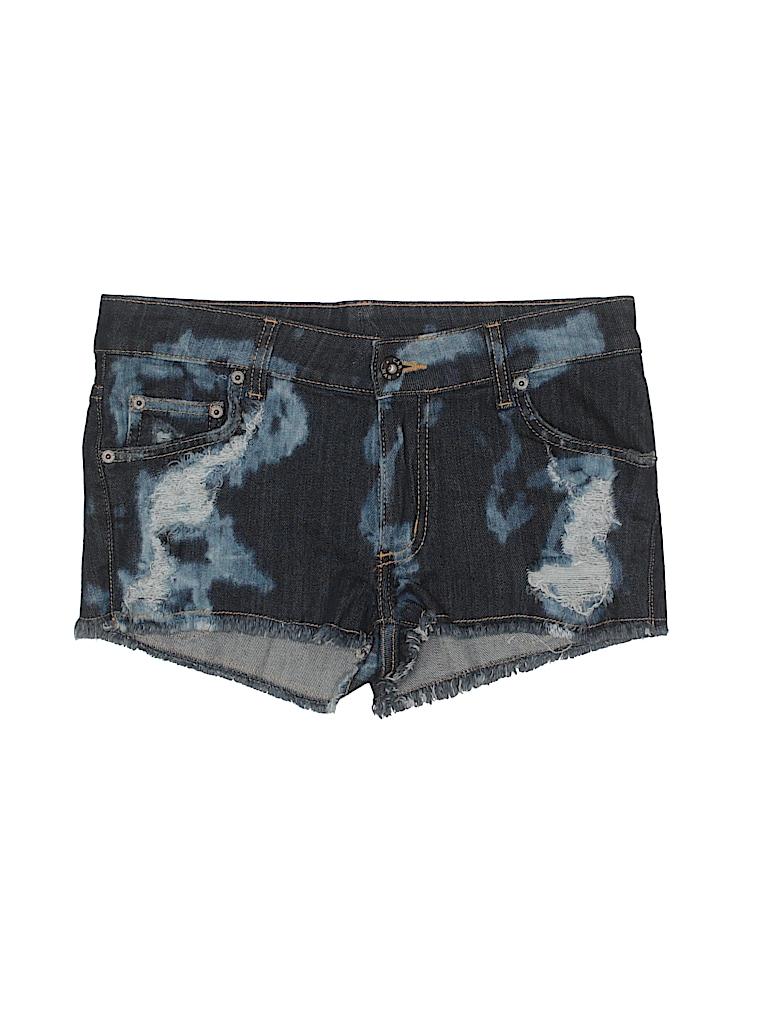 3ec5d02411 Carmar Print Blue Denim Shorts 26 Waist - 84% off | thredUP
