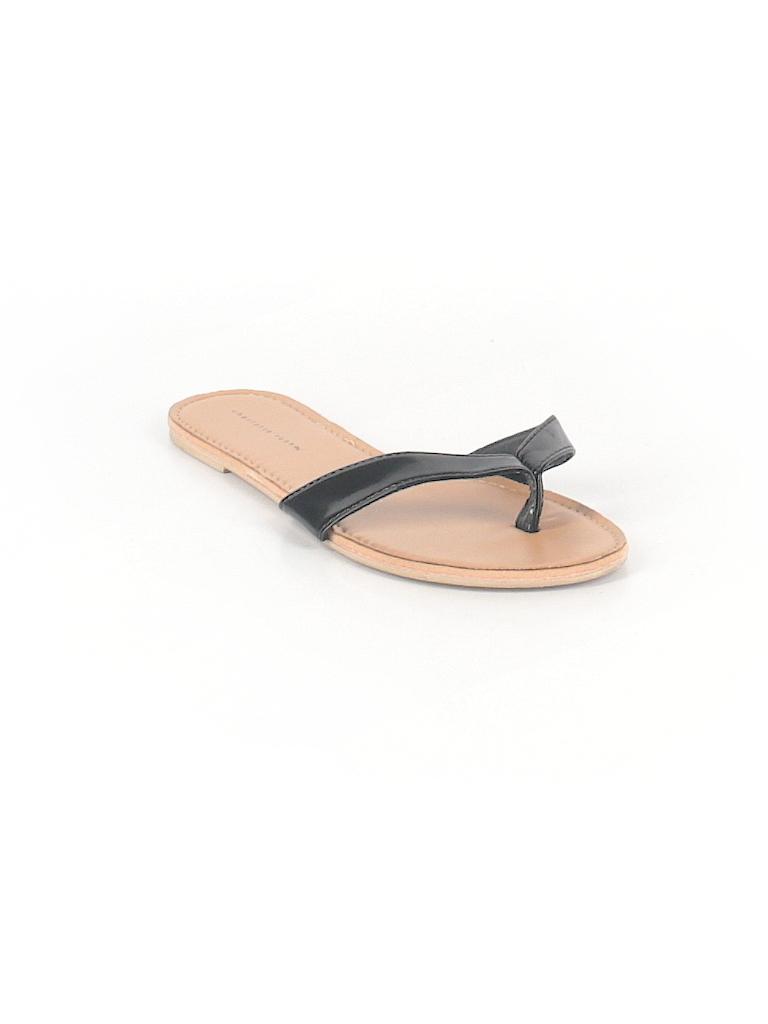 c7e723265c87 Charlotte Russe Solid Black Flip Flops Size 6 - 37% off