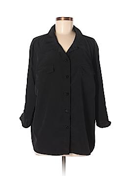 Susan Graver 3/4 Sleeve Button-Down Shirt Size XL