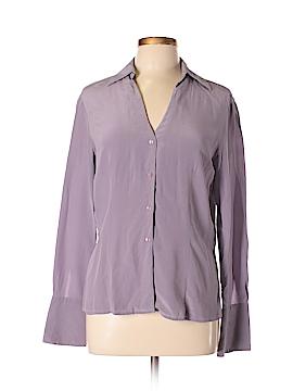 Casual Corner Long Sleeve Silk Top Size 12