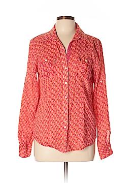 Creme Fraiche Long Sleeve Button-Down Shirt Size L