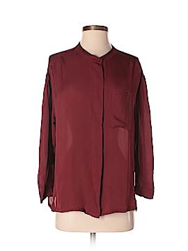 NSF Long Sleeve Silk Top Size M