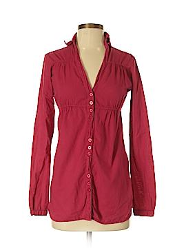 Bershka Long Sleeve Button-Down Shirt Size S