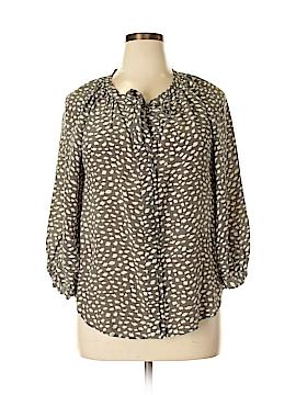 Joie Long Sleeve Silk Top Size L
