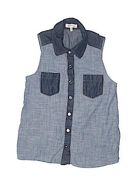 Monteau Girl Sleeveless Button-Down Shirt Size S (Kids)