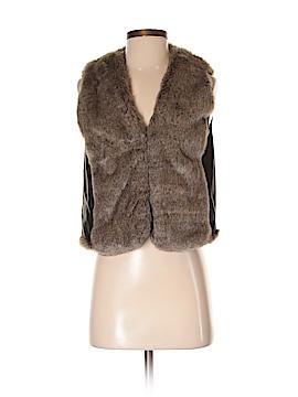 DKNY Jeans Faux Fur Vest Size S