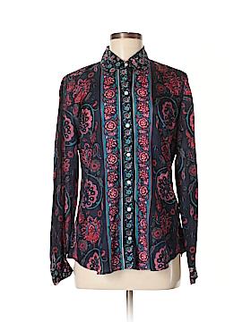 Lucky Brand Long Sleeve Silk Top Size M