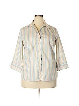 Lands' End 3/4 Sleeve Blouse Size 18 (Plus)