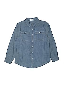 Crazy 8 Long Sleeve Button-Down Shirt Size 7-8