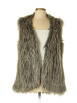 Nicole Miller Faux Fur Vest Size L