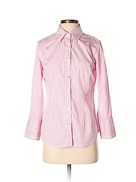 J. McLaughlin Long Sleeve Silk Top Size 4