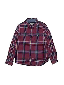 Lands' End Long Sleeve Button-Down Shirt Size 5 - 6