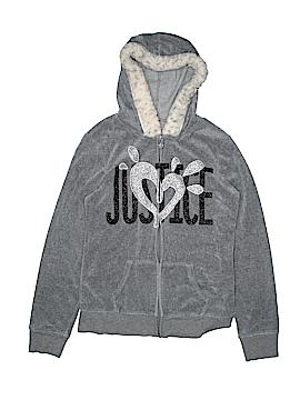 Justice Zip Up Hoodie Size 16