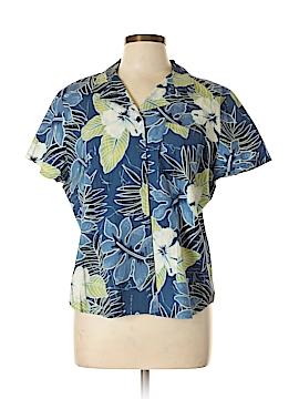 Sag Harbor Short Sleeve Button-Down Shirt Size XL (Petite)