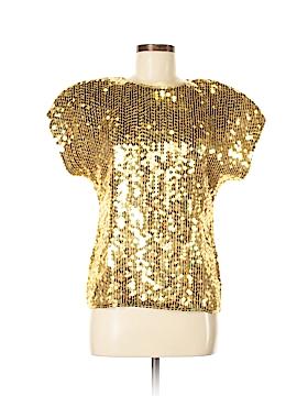 Valerie Stevens Short Sleeve Silk Top Size M