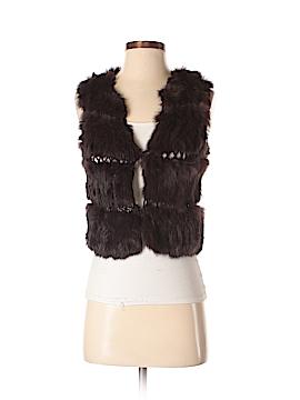 BCBGMAXAZRIA Faux Fur Vest Size XS
