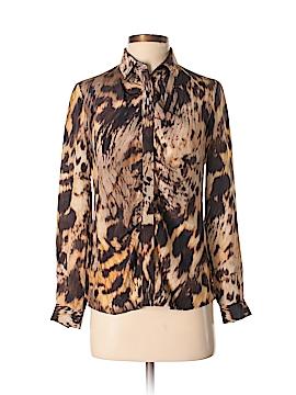 Yigal Azrouël New York Long Sleeve Silk Top Size 4