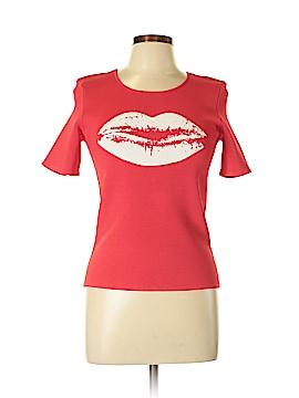 Pink Tartan Short Sleeve Blouse Size L