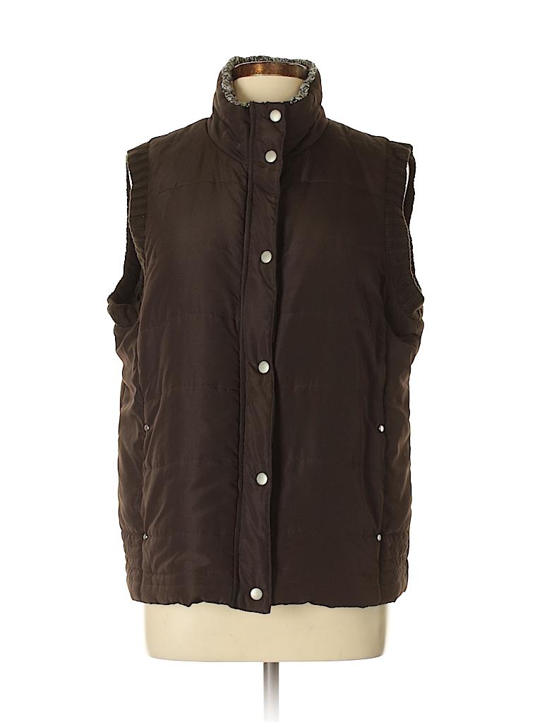 Debbie Morgan 100% Cotton Solid Brown Vest Size L - 76% off  05c000899