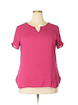 Van Heusen Short Sleeve Blouse Size XL