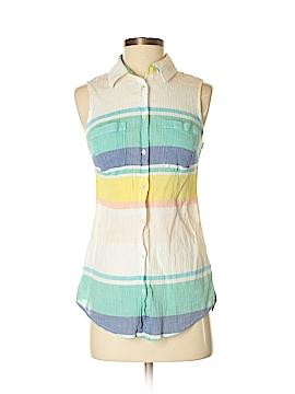 Merona Sleeveless Button-Down Shirt Size S