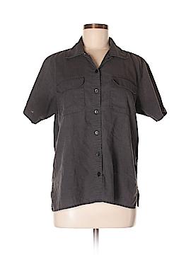 Karen Scott Short Sleeve Button-Down Shirt Size M