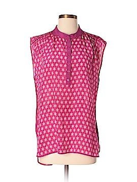 Tolani Short Sleeve Silk Top Size M