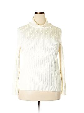 Liz & Co Turtleneck Sweater Size 3X (Plus)