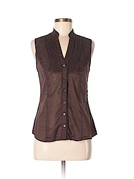 Express Design Studio Sleeveless Button-Down Shirt Size M