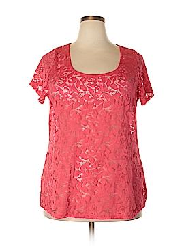 Eyelash Couture Short Sleeve Blouse Size 2X (Plus)