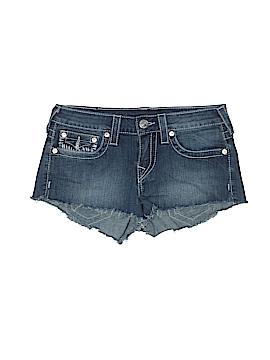 True Religion Denim Shorts 28 Waist