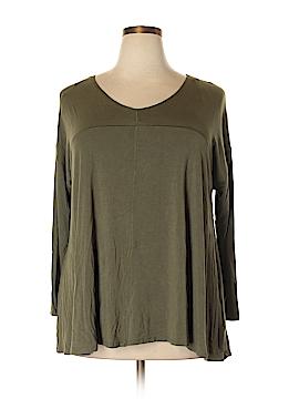Willi Smith 3/4 Sleeve T-Shirt Size 2X (Plus)