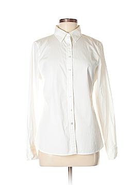 Lands' End Canvas Long Sleeve Button-Down Shirt Size 8