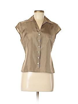 Kate Hill Short Sleeve Silk Top Size 8 (Petite)