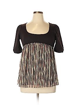 Diane von Furstenberg Short Sleeve Silk Top Size 6