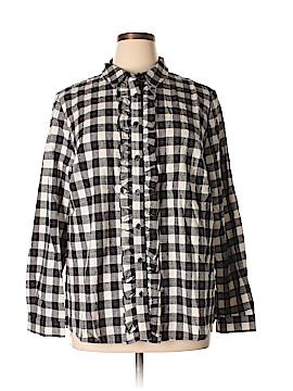 Eloquii Long Sleeve Blouse Size 20 (Plus)