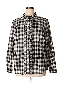 Eloquii Long Sleeve Button-Down Shirt Size 20 (Plus)