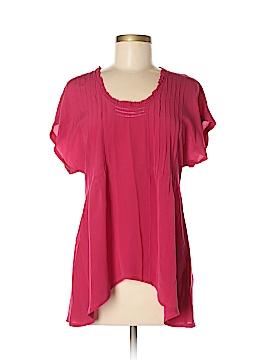 Dil Short Sleeve Silk Top Size 4