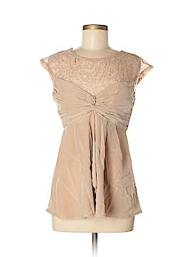BCBGMAXAZRIA Short Sleeve Silk Top Size 6