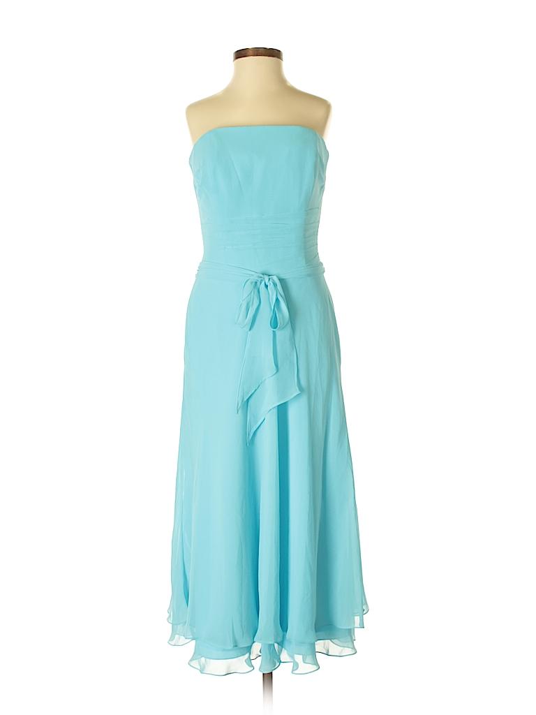 B2 by Bernardo 100% Polyester Solid Light Blue Cocktail Dress Size 4 ...