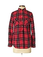 Merona Women Long Sleeve Button-Down Shirt Size S
