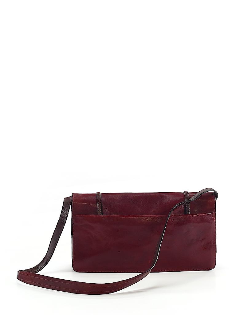 7c939d670c Francesco Biasia 100% Leather Solid Burgundy Leather Shoulder Bag ...