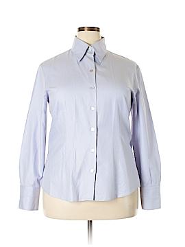 Zanella Long Sleeve Button-Down Shirt Size 16