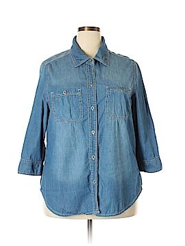 Seven7 Long Sleeve Button-Down Shirt Size 18 - 20 (Plus)