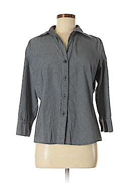 Harve Benard by Benard Holtzman 3/4 Sleeve Button-Down Shirt Size M